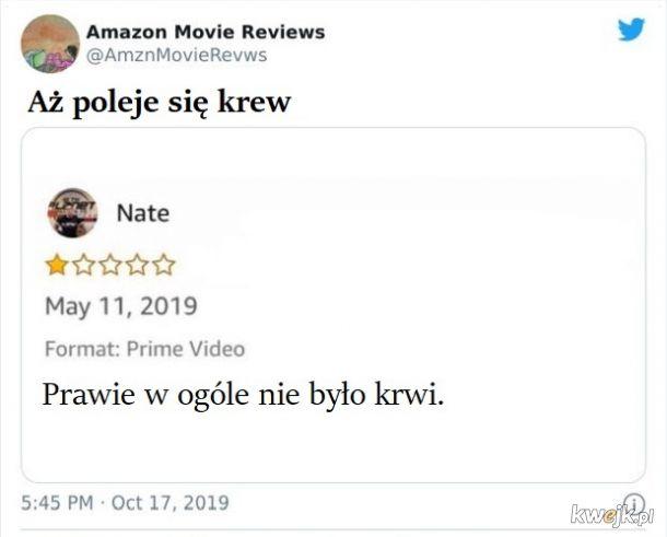 Najgorsze, najgłupsze, najmniej przydatne i najśmieszniejsze recenzje filmów z Amazon Prime Video