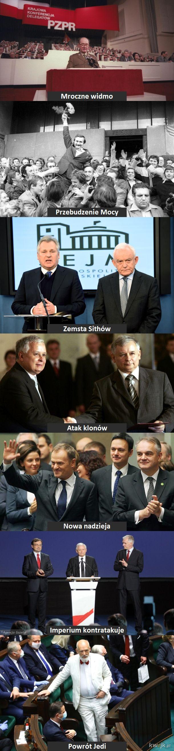 Najnowsza historia Polski jako filmy Star Wars
