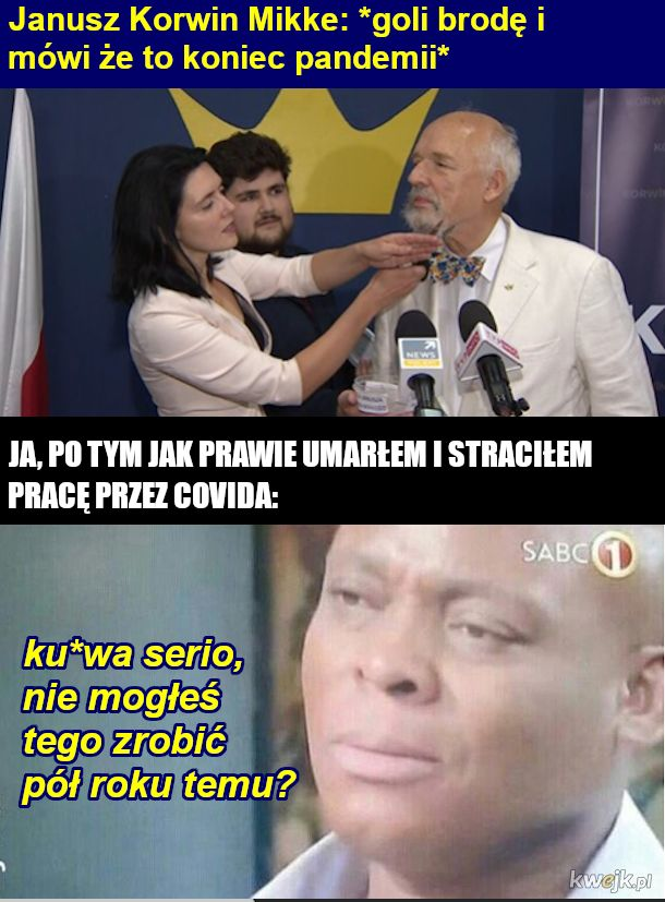 Pan Janusz fachowiec od wirusologii