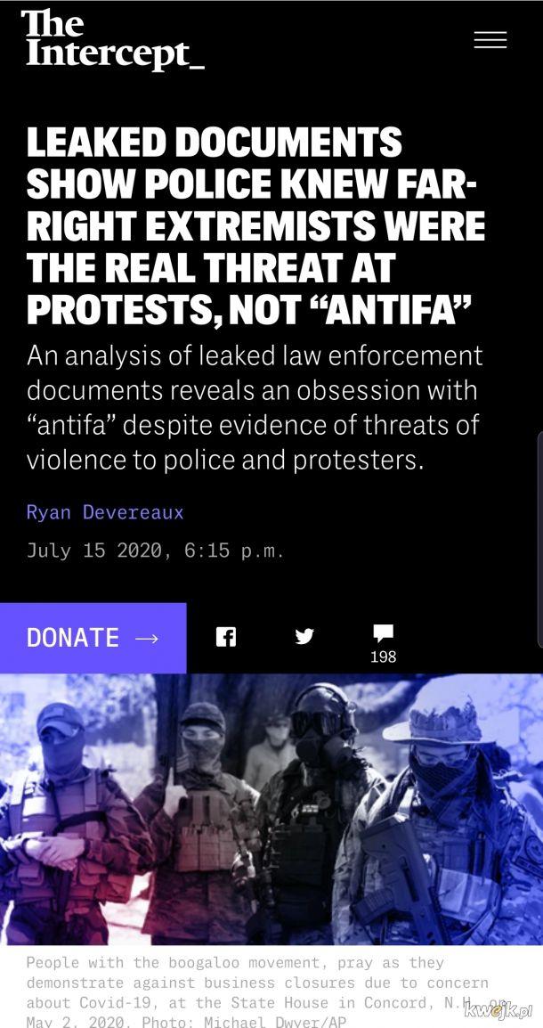DziElNa p0LiCjA chroni spiskuje z prawackimi faszystowskimi terrorystami