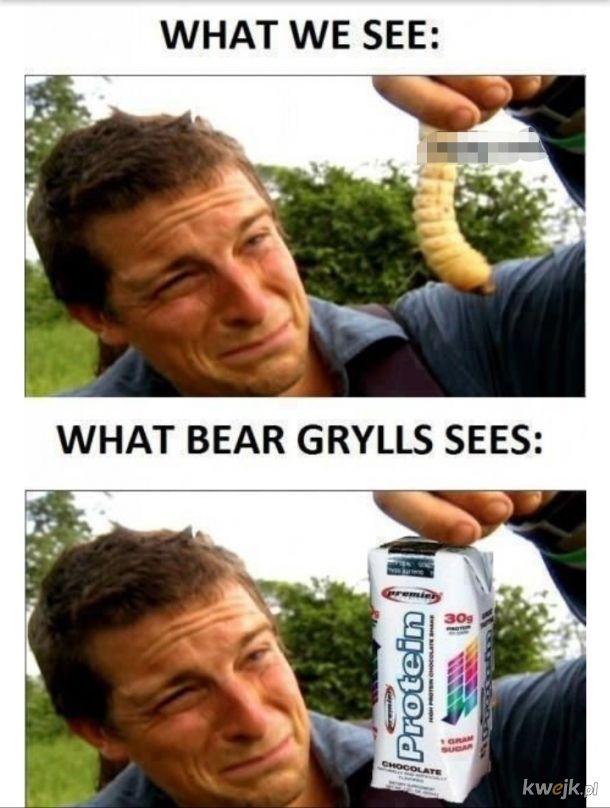 Bear Grylls eat shit