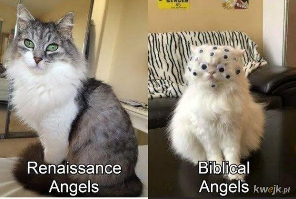 Anioły na obrazku i  w Piśmie