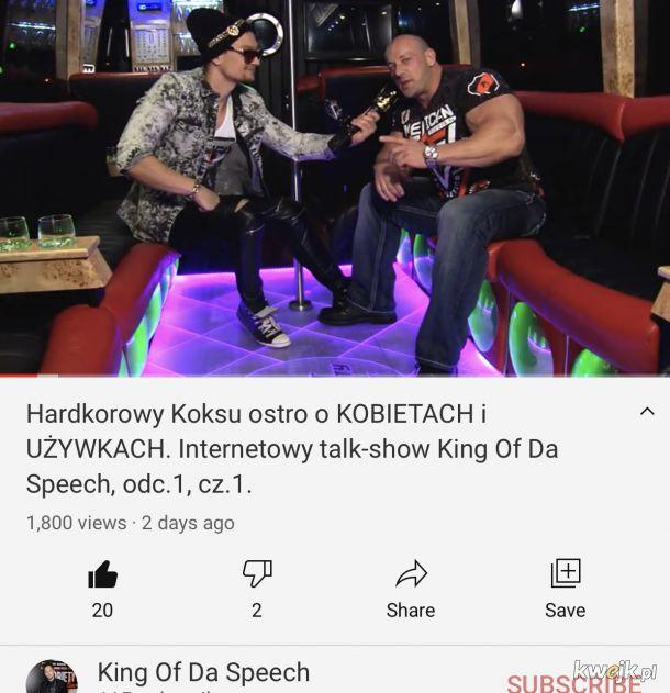 KING OF DA SPEECH to nowy i chyba jedyny polski talk-show w internecie gdzie goście wreszcie potrafią się z siebie śmiać