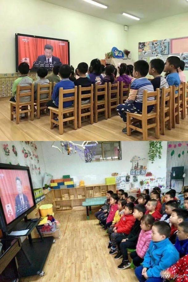 Dzieci w Chinach oglądają Kubusia Puchatka
