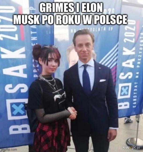 Grimes i Elon Musk