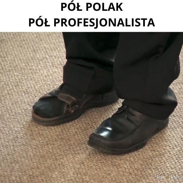 -Jakie buty dzisiaj ubierasz? - Tak.