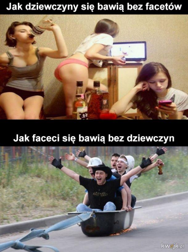 Zabawa kobiet vs mężczyzn