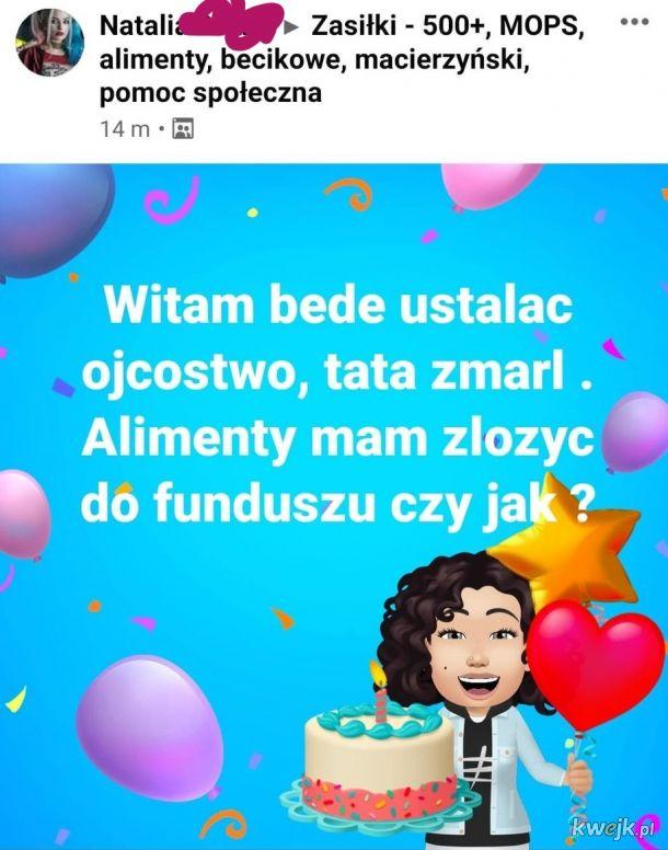 Tata zmarł! Tort i baloniki!