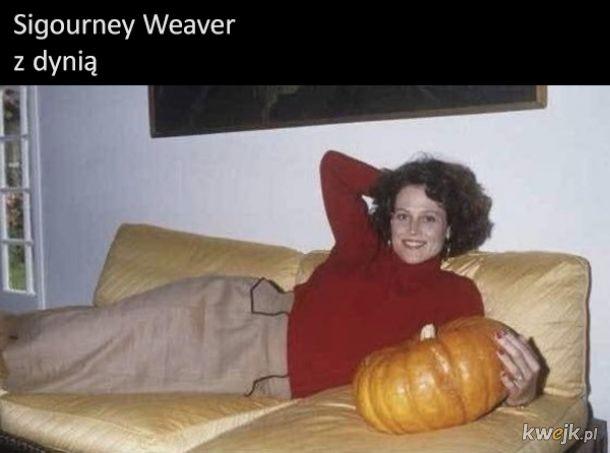 Sigourney Weaver z dynią
