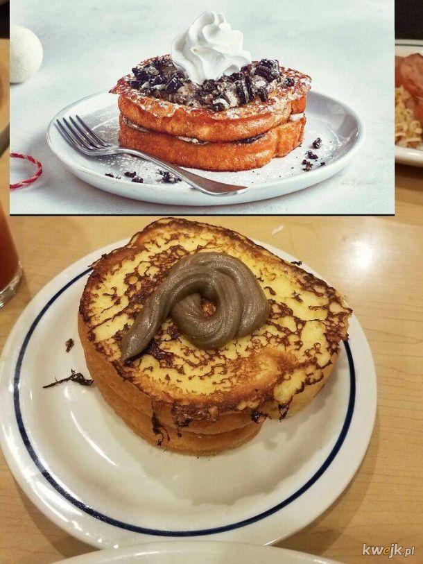 Posiłki w barach i restauracjach: zdjęcia z menu kontra rzeczywistość