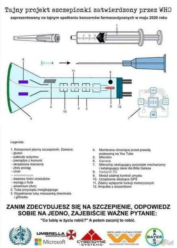 Szczepionka z Czipem zapoczątkuje Nowy Porządek Świata