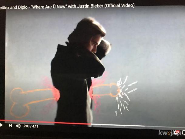 Ciekawe co jeszcze skrywa 5cio letni teledysk Biebera