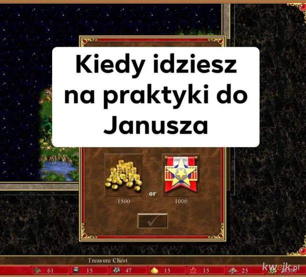 Praktyki u Janusza