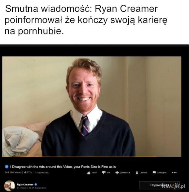 Ważna, znana i lubiana gwiazda kończy karierę: Ryan Creamer - bohater nas wszystkich