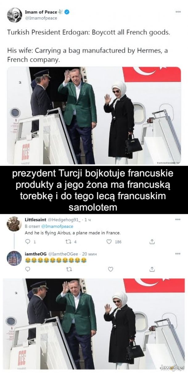 Recep Tayip Erdogan hipokryta