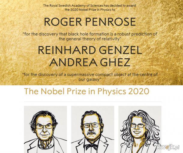 W tym roku Nobel za astrofizykę