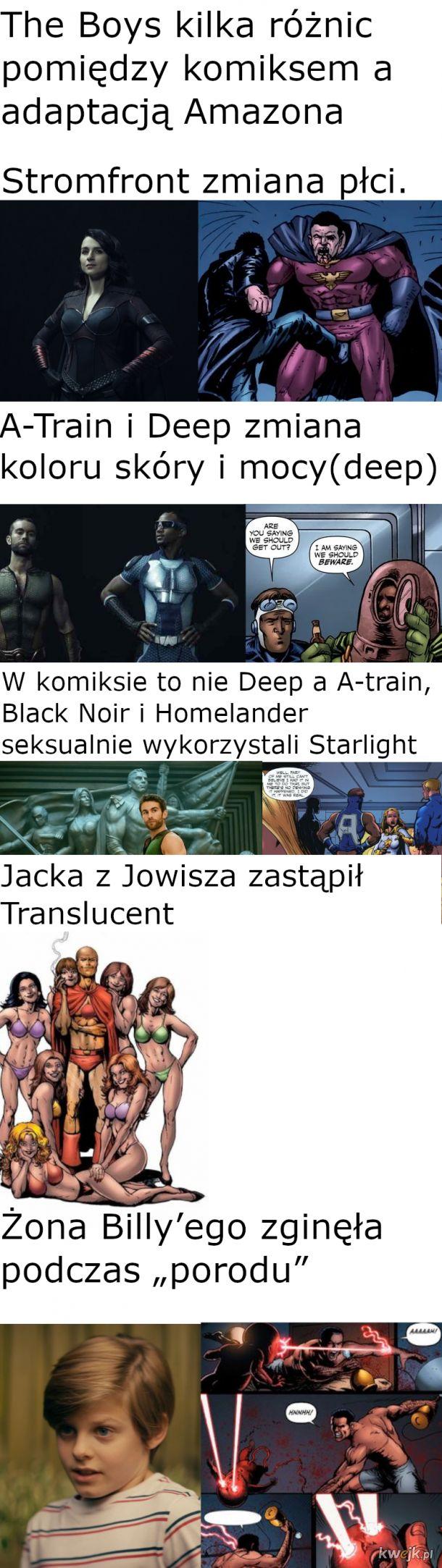 The Boys kilka różnic pomiędzy serialem a komiksem