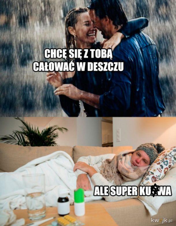 Romantycznie w deszczu