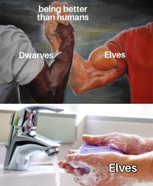 Elfy takie są, zadzierają nosa