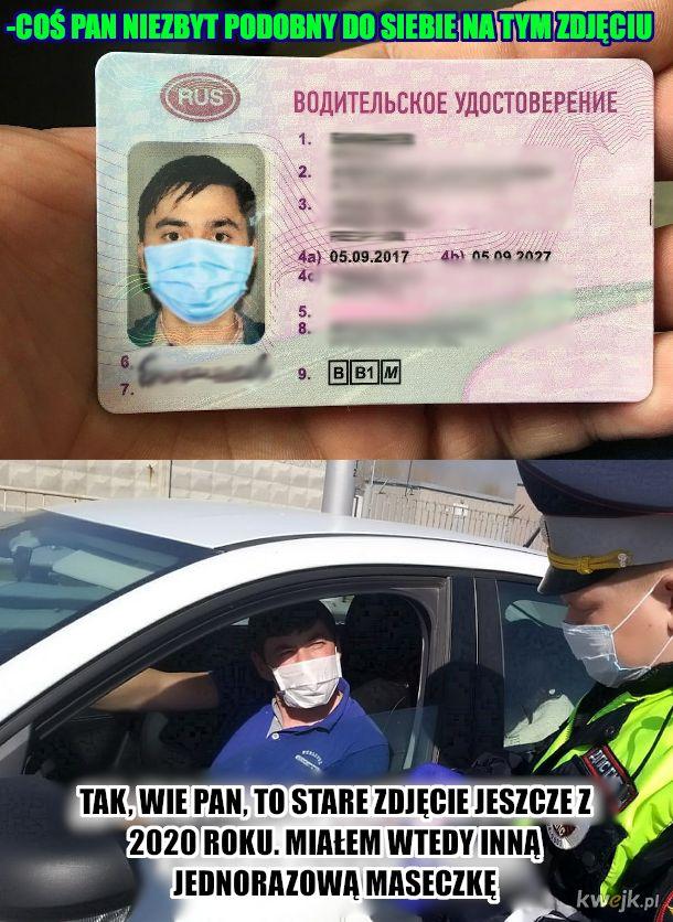 Proszę okazać prawo jazdy do kontroli
