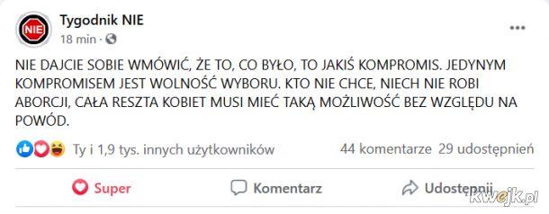 Gdy już nawet Tygodnik Nie przestaje wrzucać śmieszkowe posty..