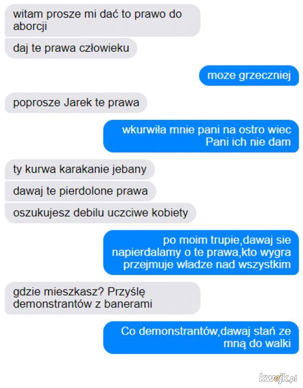 Autentyczna rozmowa Kaczyńskiego z Lempart