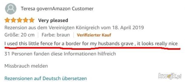 Szczery komentarz z Amazona
