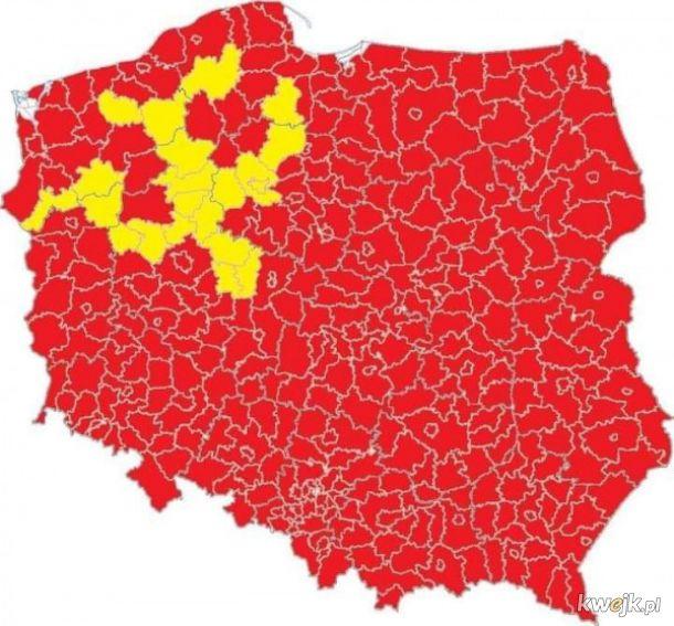 Polska czerwoną strefą