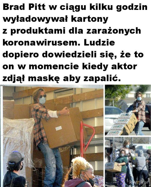 Pomocny Brad Pitt
