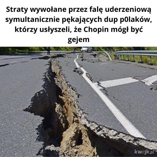 Żartuję! U nas nie ma takiego ładnego asfaltu