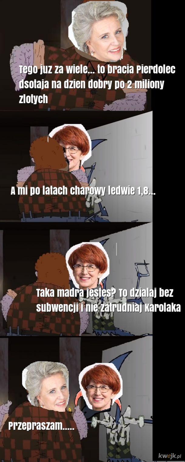 Krystyna Lecina, jakos mema holdem dla Walaszka