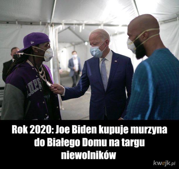 Rok 2020: Joe Biden kupuje murzyna do białego domu na targu niewolników