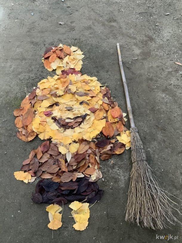 Obraz z liści