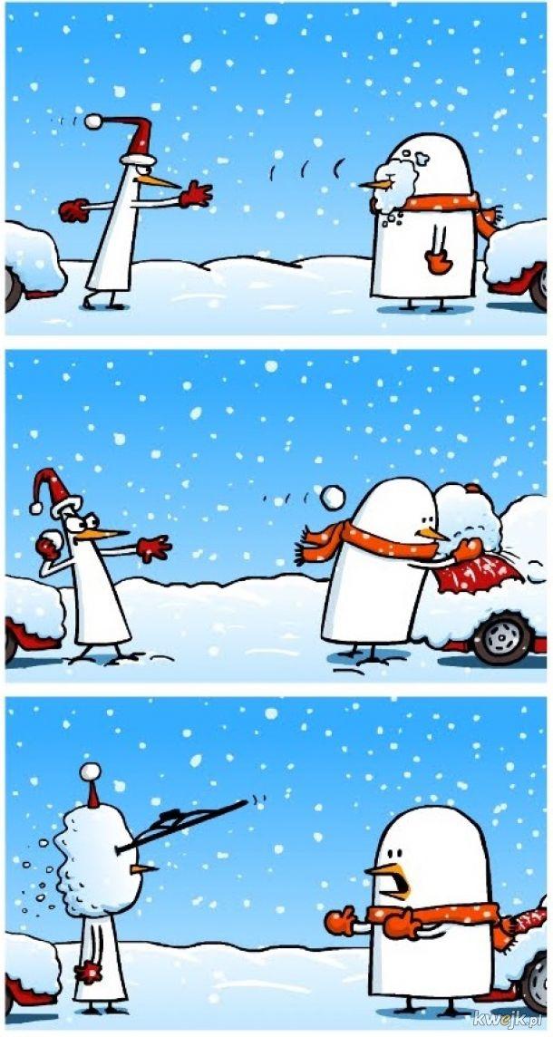 Uważaj na śnieżki... Zaraz, co to jest śnieg?