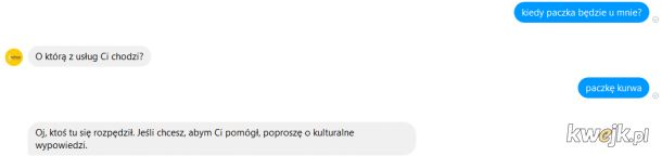 Rozmowa z czat-botem InPost