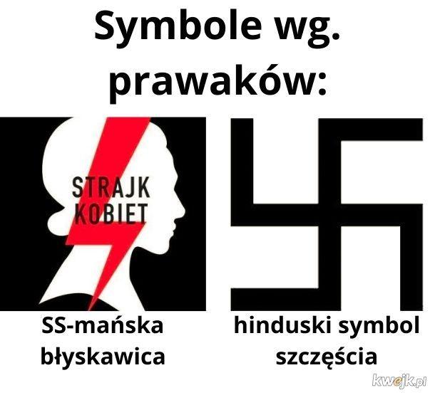 Symbole wg. prawaków