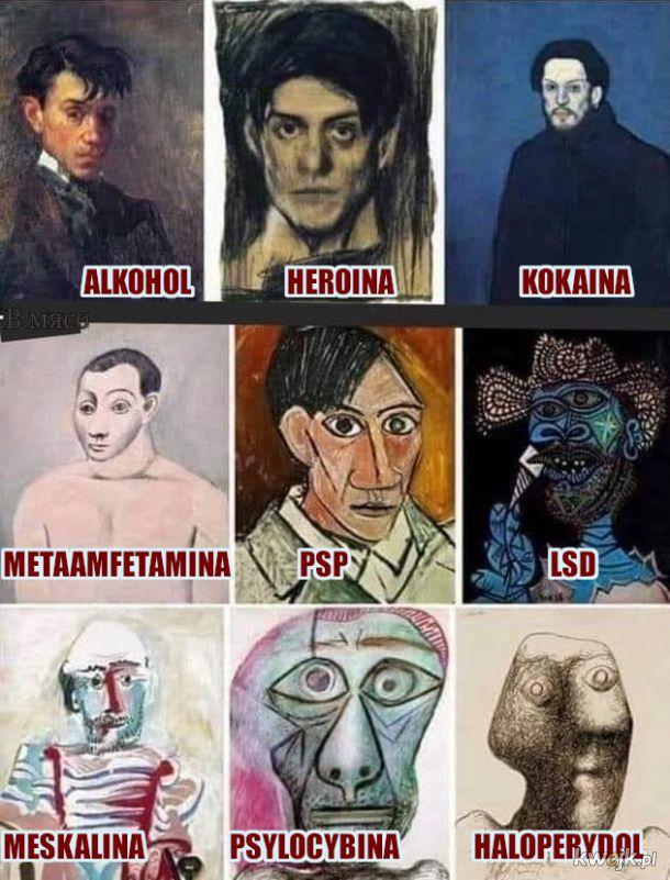 Oto jak widzę chronologiczną twórczość P. Pikassa