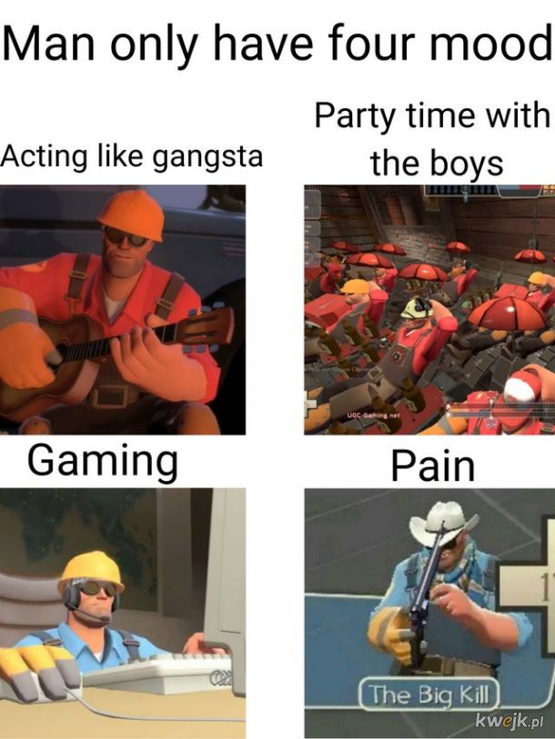 Engineer only have four mood