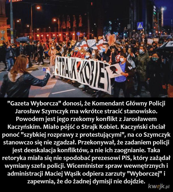 Kaczyński zdymisjonuje szefa policji, bo ten nie chciał atakować strajkujących Polaków?