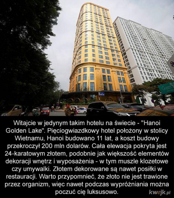 Złoty hotel w Hanoi, w którym jest jakby luksusowo