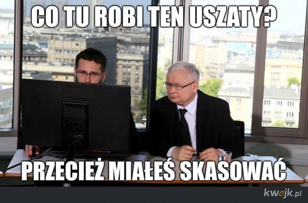 Kaczyński dowiadujący się o przywróceniu NIE na Facebooka