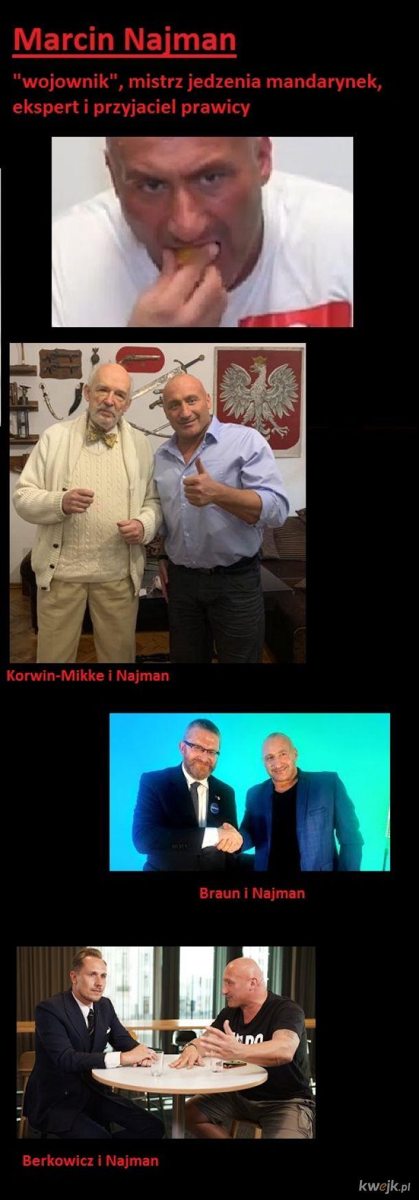 Marcin Najman - mistrz jedzenia mandarynek oraz ekspert i przyjaciel prawicy