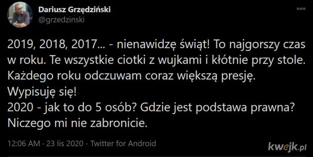 Mentalność połowy Polaków na jednym twittcie:
