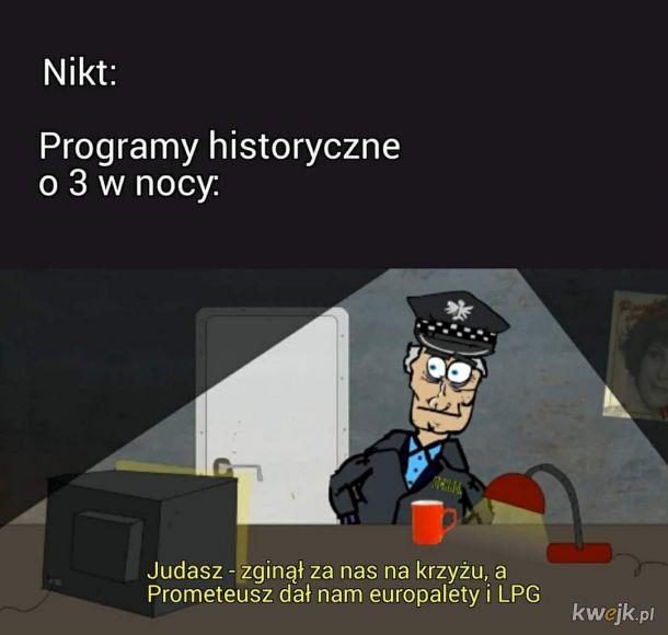 Programy historyczne nocą
