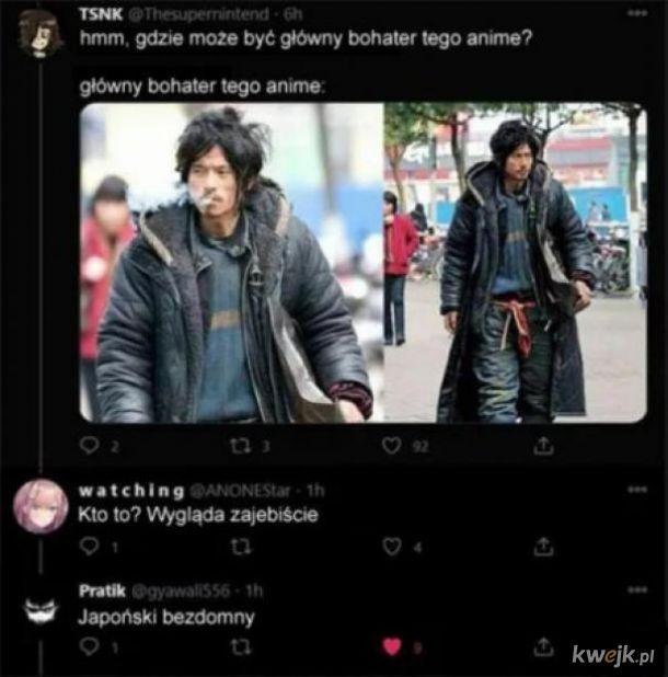 Głowny bohater anime