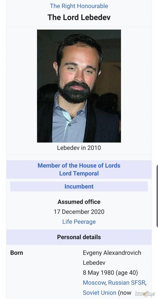 Angielski lord dziedzic z Kagiebowa