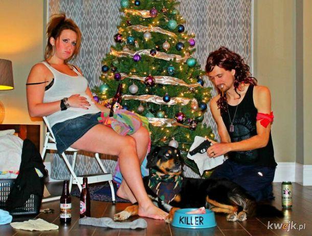 Para co roku tworzy tematyczne kartki świąteczne dla swoich krewnych