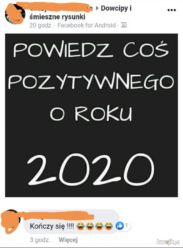 Pozytywna cecha 2020 roku