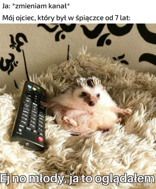Oglądanie telewizora z ojcem