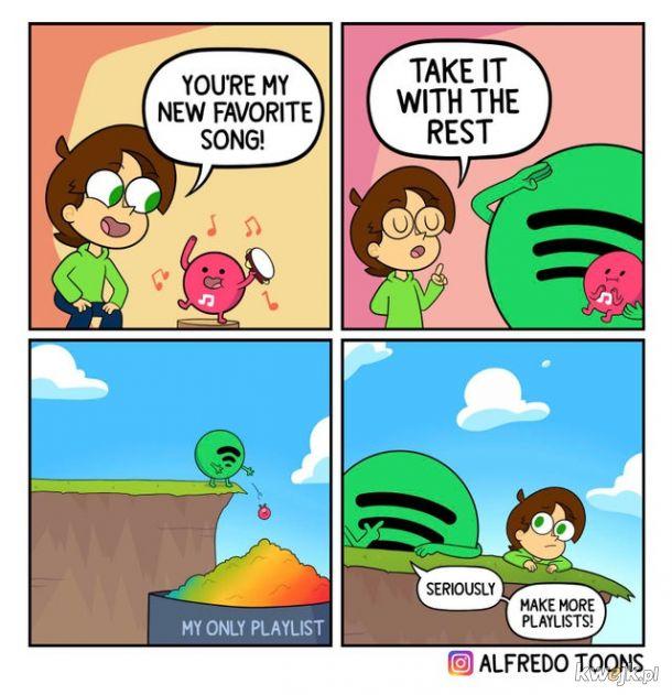 chwila, więcej playlist?